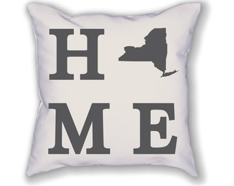 New York Home State Pillow