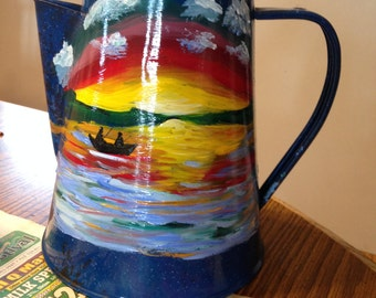 Hand painted coffee kettle