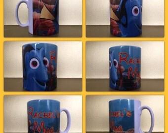 finding nemo dory mug personalised any name sqirt disney clown fish marlin fish mug cup