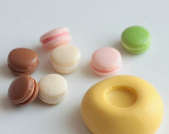 Macaroon silicone mold miniature 7mm. For creating polymer clay, resin, airclay