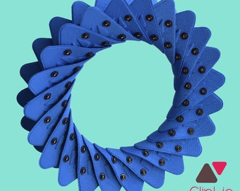 Pack wheel or Crown blue triangles Cliplie
