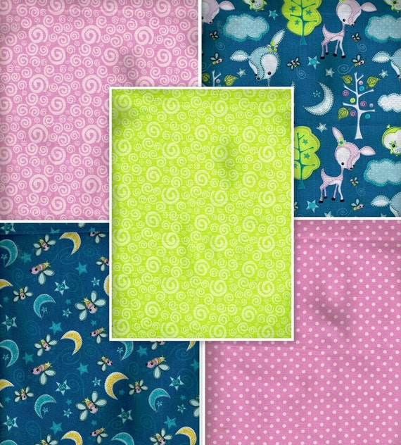 Fat Quarter Bundle Of 5 Fqb4023 100 Cotton By Ohsewworthit2quilt