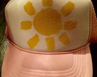 Lt Pink Sunshine trucker hat