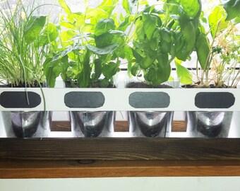 Kitchen Herb Planter Herb Garden White - Mahogany