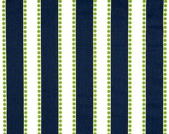 Premier Prints Cotton Twill Fabric, Lulu Navy/Chartruese Fabric