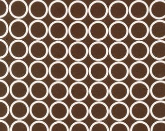 Metro Living, Metro Living Circles in Brown, Brown and White Circle Fabric