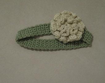 Crochet/Knit Green Headband