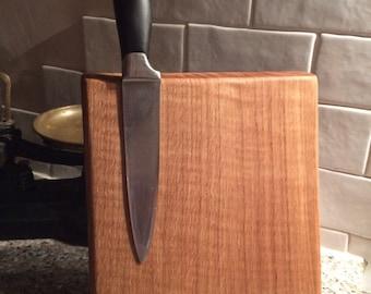 Beautiful hand made wooden oak magnetic knife holder