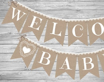 baby shower banner  etsy, Baby shower invitation