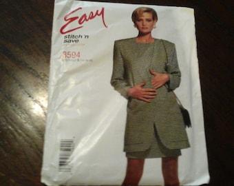Easy Stitch n Save by McCall's  # 8594 sz 14-18