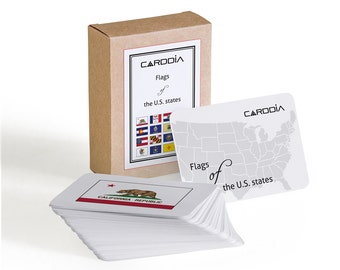Flags of the U.S. states flash cards