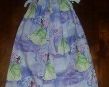 Purple and Green Princess Tiana Handmade Pillowcase dress