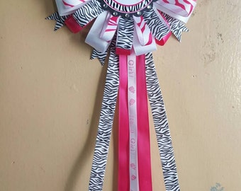 Zebra Baby Shower Corsage It's a Girl