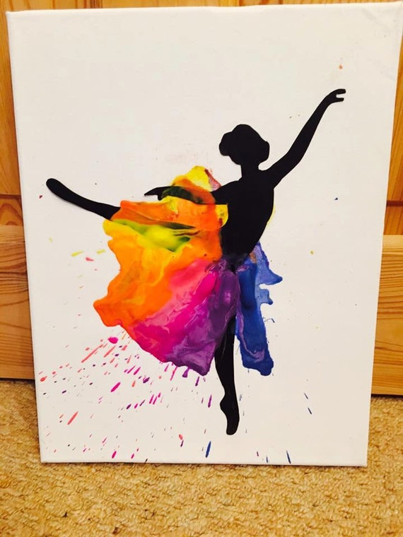 Items Similar To Ballerina Melted Crayon Art On Etsy