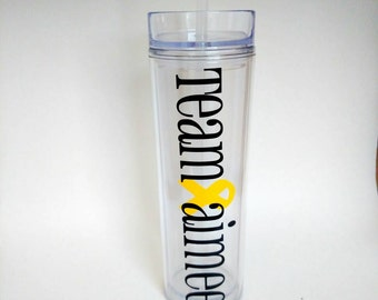 Personalized Tumbler // Cancer Awareness // Childhood Cancer // Breast Cancer // Find A Cure // Gift // BPA Free