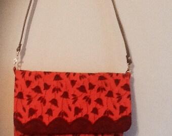 Lined handbag