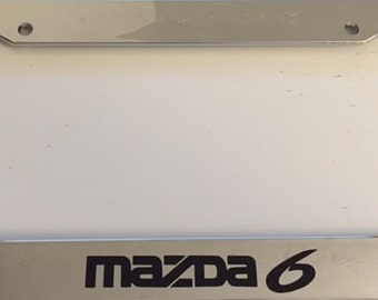 Mazda 6 Racing -  Chrome Automotive License Plate Frame