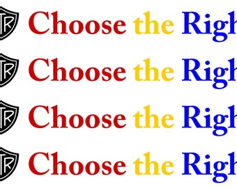 """2017 """"Choose the Right"""" border - LDS Primary - Bulletin Board (4 yards)"""