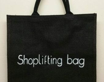 Large black Jute bag. *Shoplifting bag*