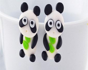 Panda earrings (1 pair)