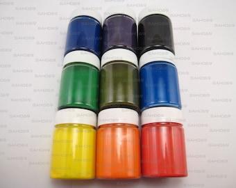 9 SILK BATIK Acrylic Paint Set DECOLA Russian Nevskaya Palitra