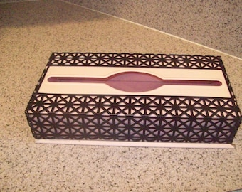 Pink and Black Metal Tissue Box Vintage 1950s. Price Includes Shipping