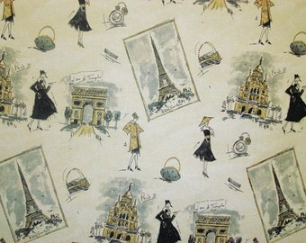 Tres Chic Paris Panther Fabric, Waverly Home Decor Printed Decorative