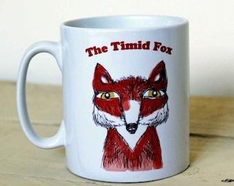 Timid Fox ceramic mug