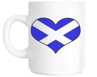 Scotland Heart Flag Novelty Gift Mug