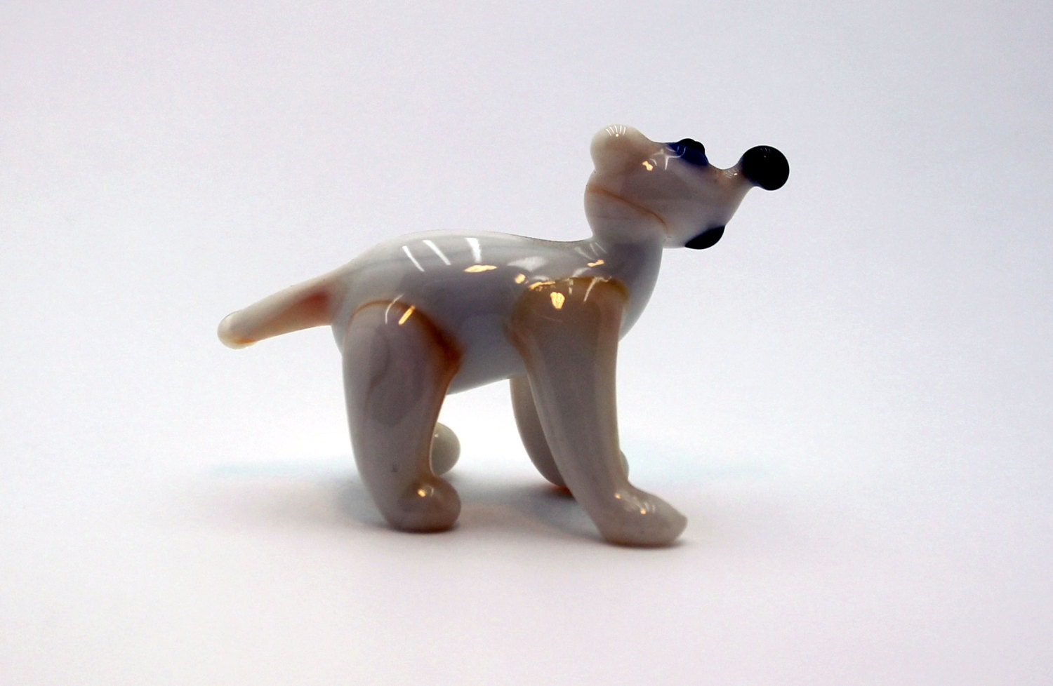 Glass polar bear art glass home decor glass by for Bear decorations for home