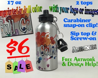 Full Color Custom Personalized Sport Water Bottles 17oz