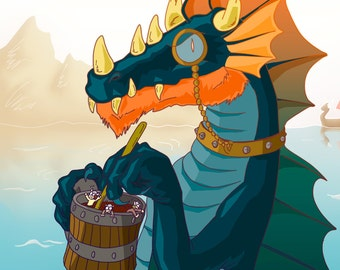 Viking Dragon print