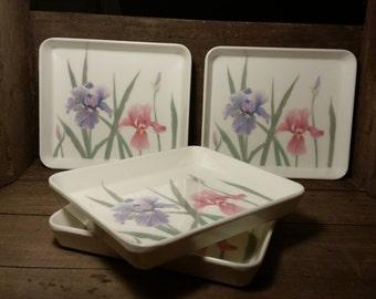 Vintage Design Imports Melamine Snack Trays - Set of 4