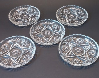 Anchor Hocking Star of David Coasters (set of 5)
