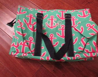 Monogrammed Anchor Canvas Tote