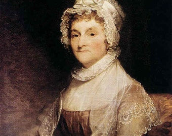 Abigail Adams portrait in color