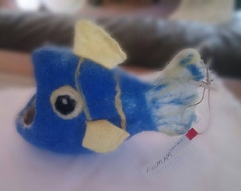 Hand Felted Catchall Fish, Home decor Catchall Funny Fish, Don't firget Catchall Fish