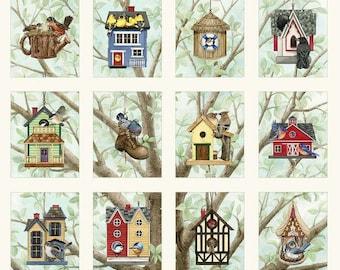 Bird houses - Panel - Tracy Lizotte Patt # 4319 - Elizabeth's Studio