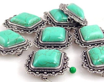 8 Large Focal Bead Turquoise 10754-n3