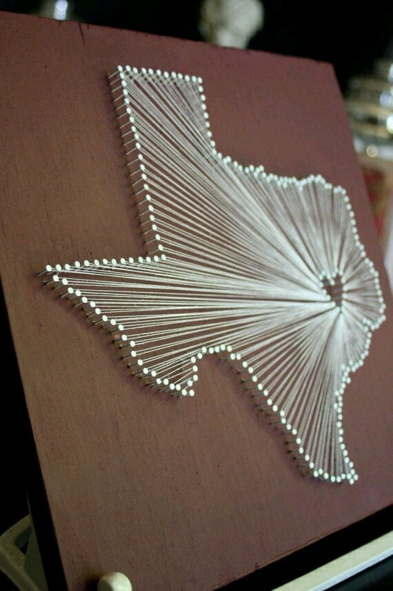 items similar to utah nail and string wall art decor on etsy
