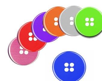 A Pack of 6 50mm Buttons Pattern weights Button Design for Sewing Patterns like on the TV Sewing Bee NEW