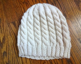 handknit cable hat