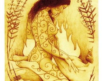 Stoking the Fire. Erotic Fine Art Print