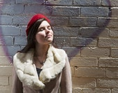 Retro Hat - Vintage Inspired Hat - Rockabilly Hat - Dark Red Retro Hat - Dark Red Ladies Hat - Retro Felt Hat - Dark Red 1950s Hat