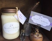 Handpoured Soy Candle - Mason Jar - Scented Candle - Gifts for Mom - 16 oz