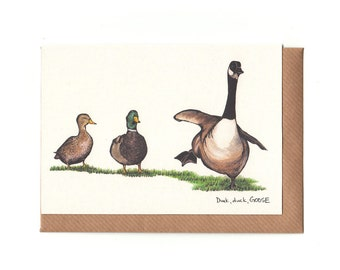 Duck Duck GOOSE - Greeting Card
