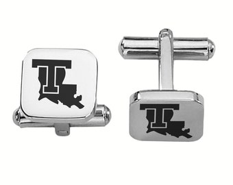 Louisiana Tech Bulldogs Cufflinks | College Cufflinks | Custom Cufflinks | Officially Licensed