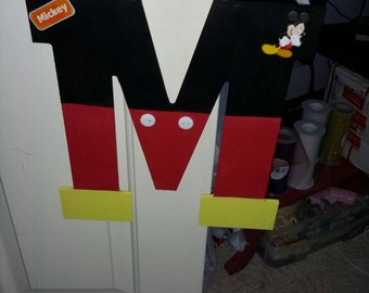 Mickey mouse letter, mickey mouse decor