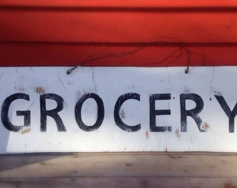 "5' Vintage Style ""GROCERY"" Sign"