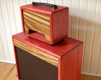 Guitar Amp Head Cabinet - Pine and Zebrawood